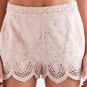 NWT Urban Outfitters Shorts Rose Pink Eyelet Lace